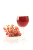 Red wine with grape Royalty Free Stock Images