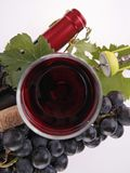 Red wine and grape Royalty Free Stock Image