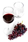 Red wine and grape Stock Photography