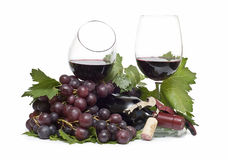 Red wine grapes. Royalty Free Stock Photos