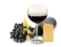 Red wine and grapes Royalty Free Stock Photography