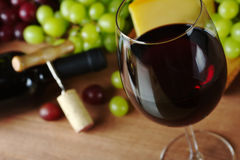 Red Wine with Grapes Royalty Free Stock Image