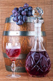 Red wine, grapes Royalty Free Stock Image