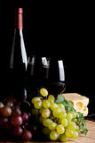 Red wine and grapes Stock Photography