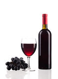 Red wine and grapes. Stock Photos