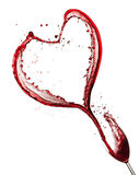 Red wine heart Stock Photo
