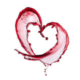 Red wine heart Royalty Free Stock Images