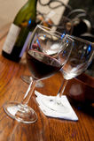 Red Wine In Glass On A Bar Stock Photography