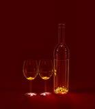 Red Wine In Glasses Stock Image