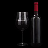 Red wine isolated on black Stock Photography