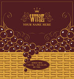 Red wine labels Royalty Free Stock Photography