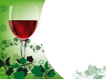 Red wine layout Royalty Free Stock Photography