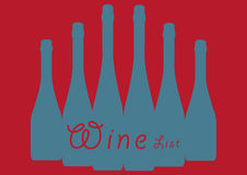 Red Wine list Royalty Free Stock Photo