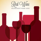 Red wine list Stock Image