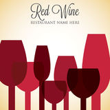 Red wine list Royalty Free Stock Photos