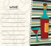 Red Wine Menu. Vector design Stock Photo