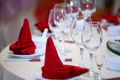 Red wine napkins(click image to zoom) Royalty Free Stock Images
