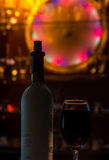 Red wine. For a nice hot evening Stock Images