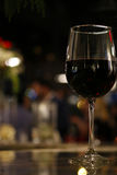 Red wine. And night view Stock Images