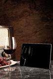 Red Wine, old and new Technology Royalty Free Stock Photos