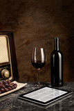 Red Wine, old and new Technology Stock Photos
