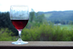 Red wine outside Stock Photo