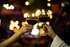 Red Wine Party.Romantic Lesbian Gay Couple Enjoying Dinner at Home,Love, Relationship,Romantic Concept.Women with friend