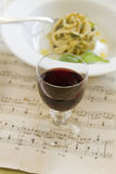 Red Wine And Pasta Royalty Free Stock Photography