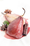 Red wine pears Stock Image