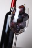 Red wine and plums Royalty Free Stock Photos