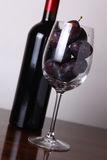 Red wine and plums Stock Photo