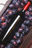 Red wine and plums Stock Photography