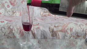 Red wine stock video