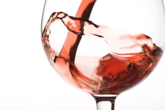 Red wine pouring Royalty Free Stock Photo