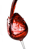 Red wine pouring down Royalty Free Stock Photography