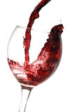 Red wine pouring down Stock Image