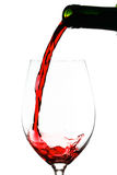 Red wine pouring Royalty Free Stock Photography