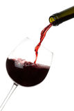 Red Wine Pouring Isolated Royalty Free Stock Photo