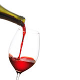 Red Wine Pouring Stock Image