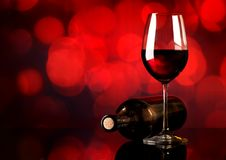 Red wine on red background Royalty Free Stock Images
