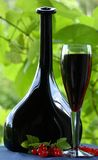Red wine and red currant Royalty Free Stock Image