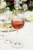 Red wine at restaurant Royalty Free Stock Photography