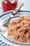 Red wine risotto Stock Image