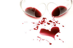 Red wine romance Stock Images