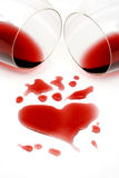 Red wine romance royalty free stock image