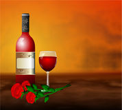 Red wine romantic rose flower Royalty Free Stock Photo