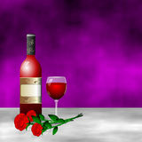 Red wine romantic rose flower Royalty Free Stock Photos