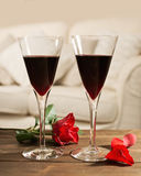 Red Wine & Roses Royalty Free Stock Images