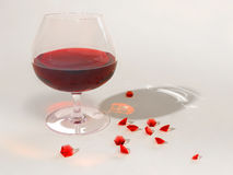 Red wine and rubies Royalty Free Stock Image