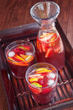 Red wine Sangria Stock Photos